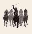 jockey riding horse hose racing graphic vector image vector image