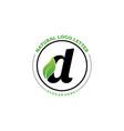 letter d with leaf logo green leaf logo icon vector image vector image