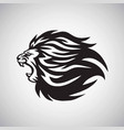 lion roaring logo mascot design template vector image vector image