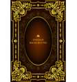 luxury book cover vector image vector image