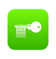 magnetic key icon green vector image vector image