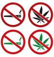 marijuana smoking prohibited vector image vector image