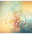 Merry Christmas Lettering Retro design vector image