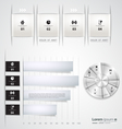 Modern set infographic template vector image