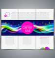 Multicolored template leaflet page design vector image