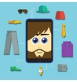 phone man shopping vector image
