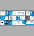 presentation and slide layout template design vector image vector image