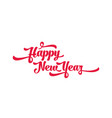red text on a white background happy new year vector image vector image