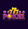 screen logo poker background for lottery or casino vector image vector image