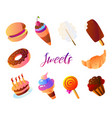 set dessert related colorful contains such vector image