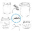 set hand drawn jars Vintage vector image vector image