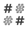 set hastags symbols vector image vector image