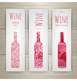 Set of art wine banners and labels design vector image vector image