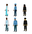 Set of isometric rescuers vector image vector image
