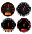speedometers and tachometers car dashboard black vector image vector image