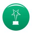 star award icon green vector image