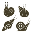 stylized silhouette of a snail vector image vector image
