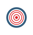 target icon darts target symbol aim button flat vector image