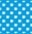tea mug pattern seamless blue vector image vector image