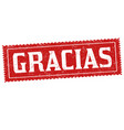 thank you on spanish language gracias sign or vector image