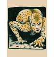 underground comix Leopard Lady vector image