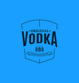vodka logo design glass vodka label on blue vector image vector image