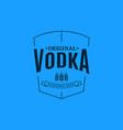 vodka logo design glass vodka label on blue vector image
