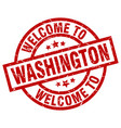 welcome to washington red stamp vector image