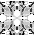 White and black geometric mosaic background with vector image vector image