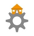 real estate gear symbol vector image