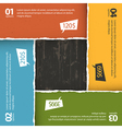 wooden texture and torn paper composition option vector image