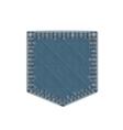 Blue Denim Pocket vector image