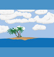 palm tree on sand island vector image