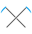 scythes flat icon vector image