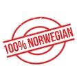 100 percent norwegian rubber stamp vector image vector image