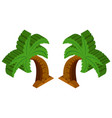 3d design for coconut tree vector image vector image