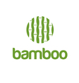 Abstract icon bamboo in circle vector image