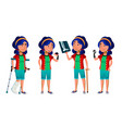 asian girl kid poses school child vector image vector image