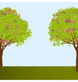 Beautiful trees vector image