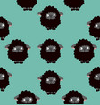 black sheep pattern vector image vector image