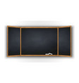 blackboard with wooden frame vector image vector image