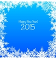 Blue and white Merry Christmas background vector image vector image