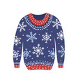 blue christmas cosiness ugly sweater vector image