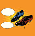 business meeting classic shoes vector image vector image