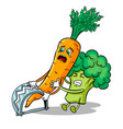 carrot in trap pop art vector image