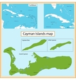 Cayman Islands map vector image vector image