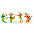 cinco de mayo celebration with group characters vector image vector image