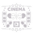 cinema short film production tools background vector image vector image