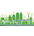 cityscape with infrastructure and transportation vector image vector image
