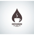 coffee cup drop logo background vector image vector image